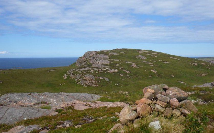 Scotislands Isle Ristol hilltop cairn