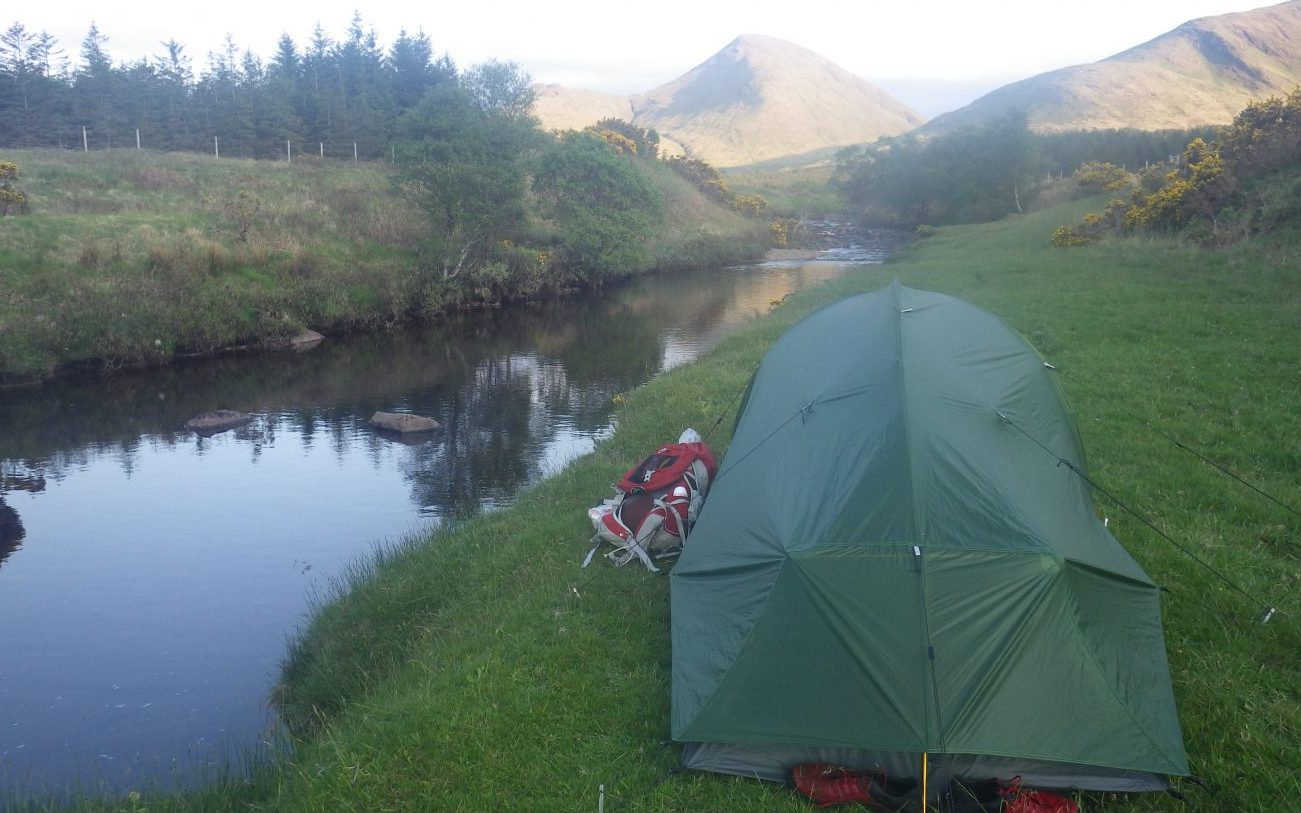 Camping tent on Mull