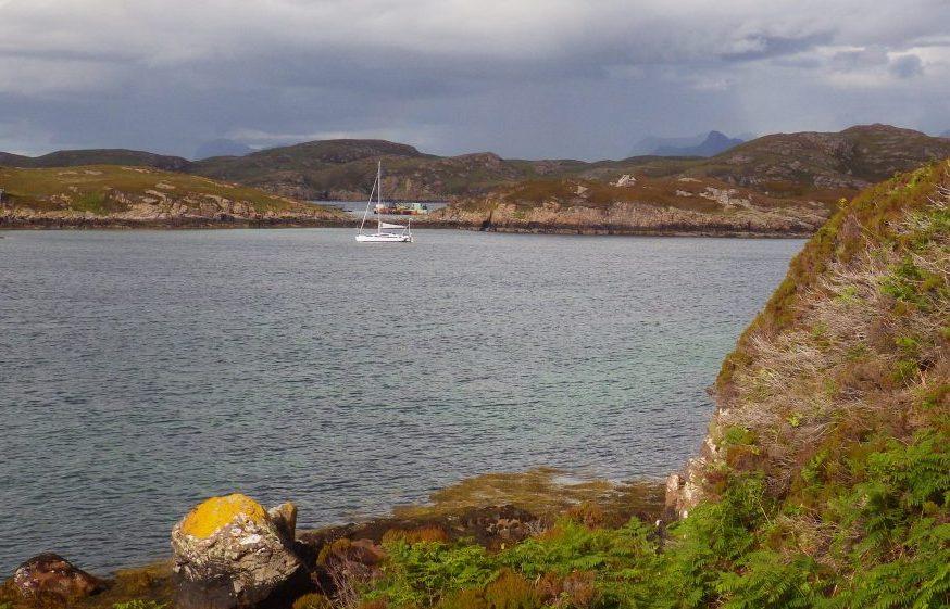 Tanear Beg yacht at anchor