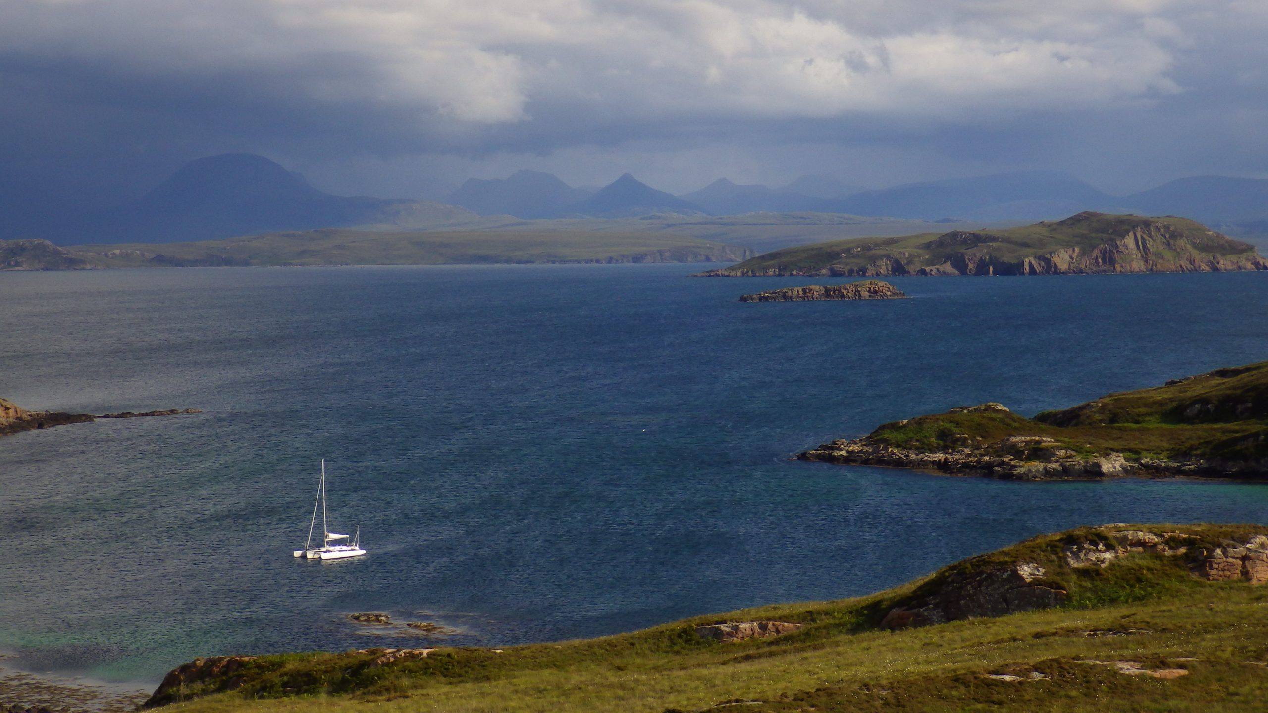 Yacht at anchor scotislands