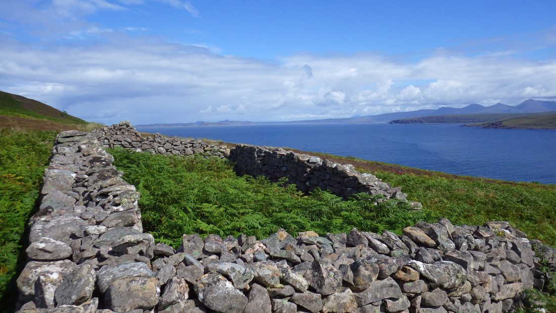 Scotilsands Gruinard sheep pen ruin