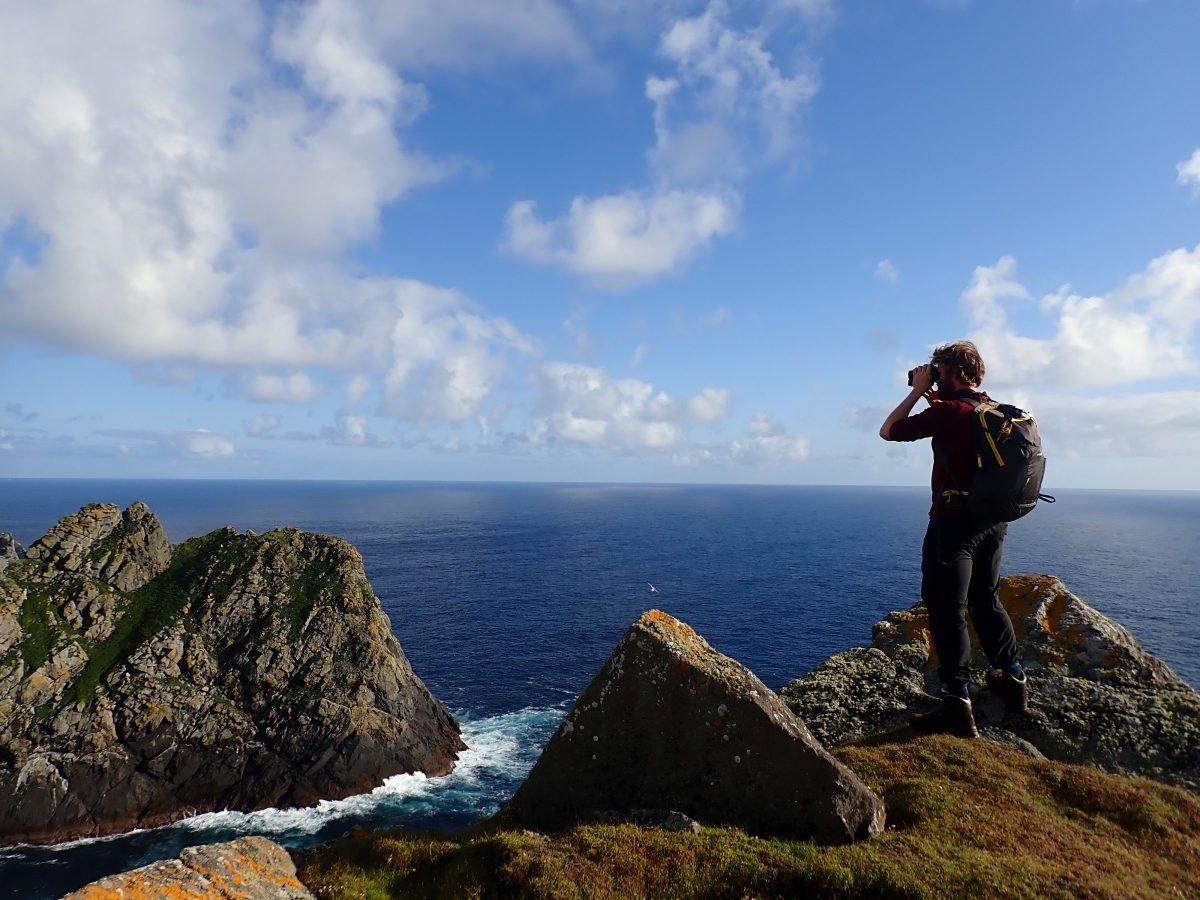 Scottish Islands St KIlda Ranger on hill