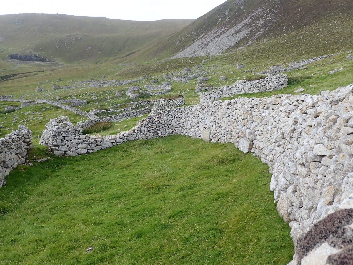 St Kilda head wall dyke wall Scotislands Scottish islands