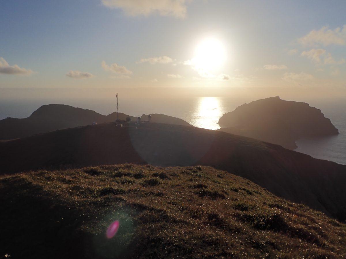 St Kilda sunset over atlantic Scotislands Scottish Islands