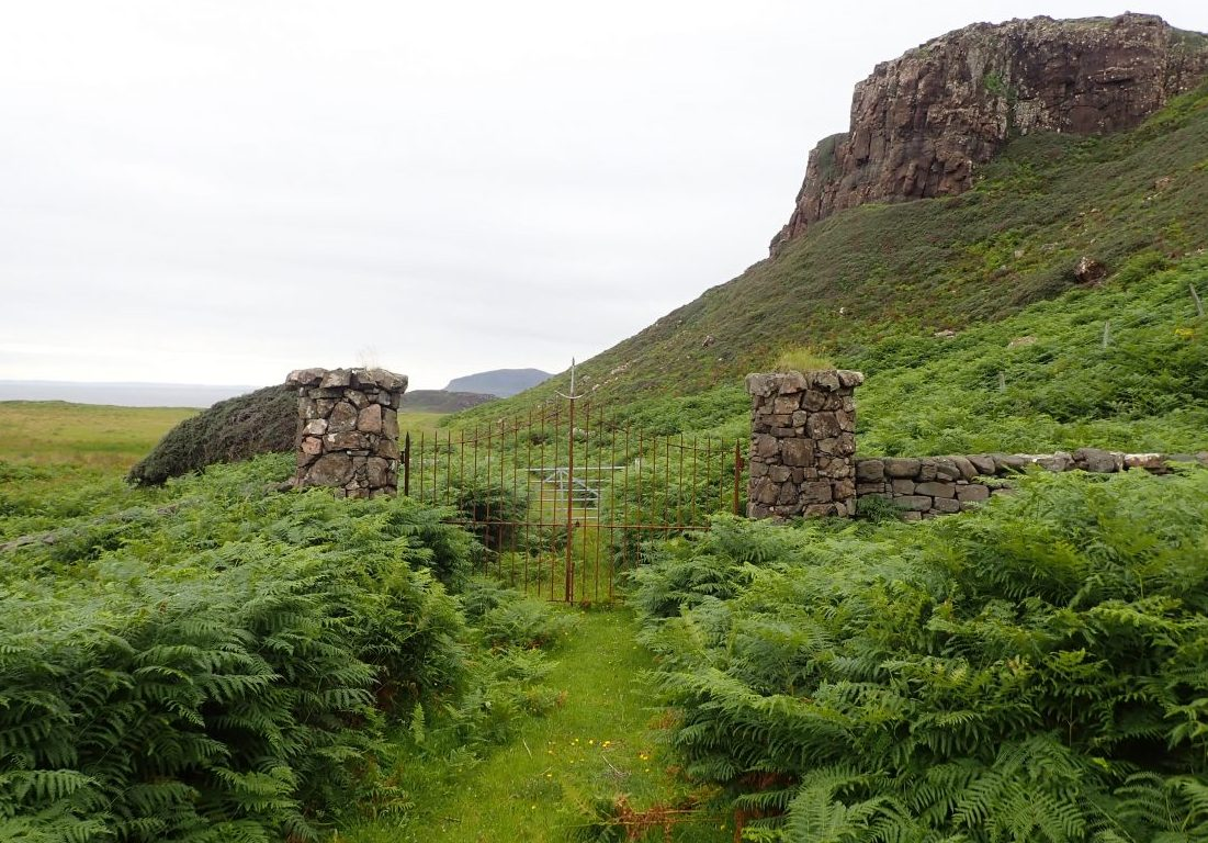 Scottish islands gates Gometra