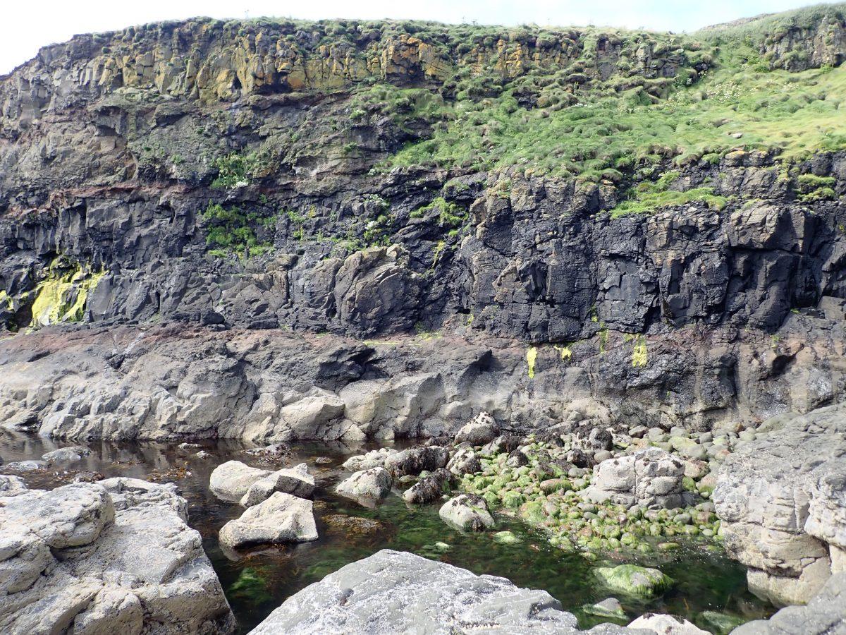 Lava levels Ducthmans Cap island