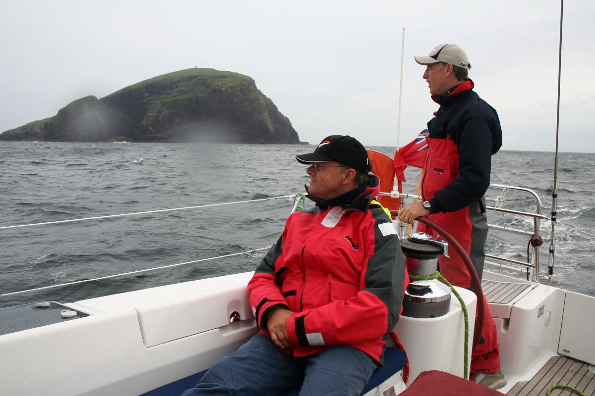 Barra head lighthouse from yacht