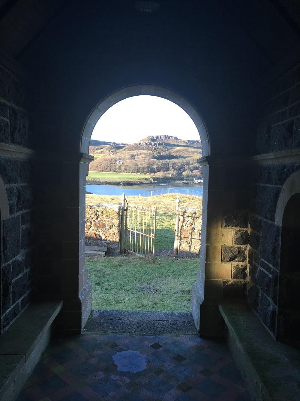 St Edwards chapel Sanday small isles