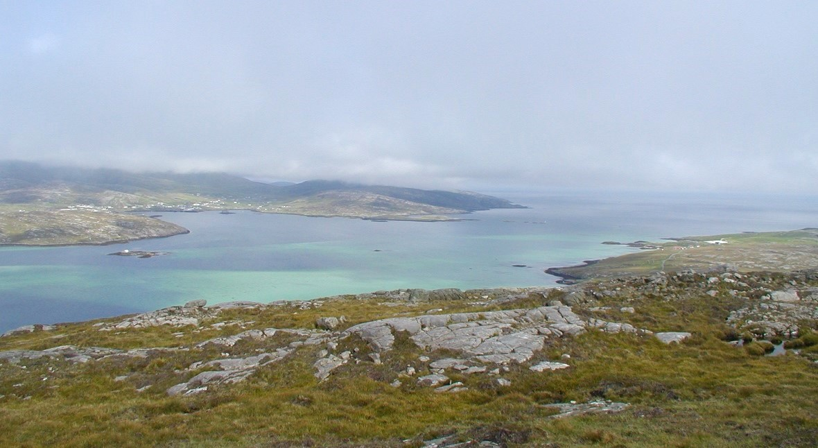 Castlebay sound from top of Vatersay