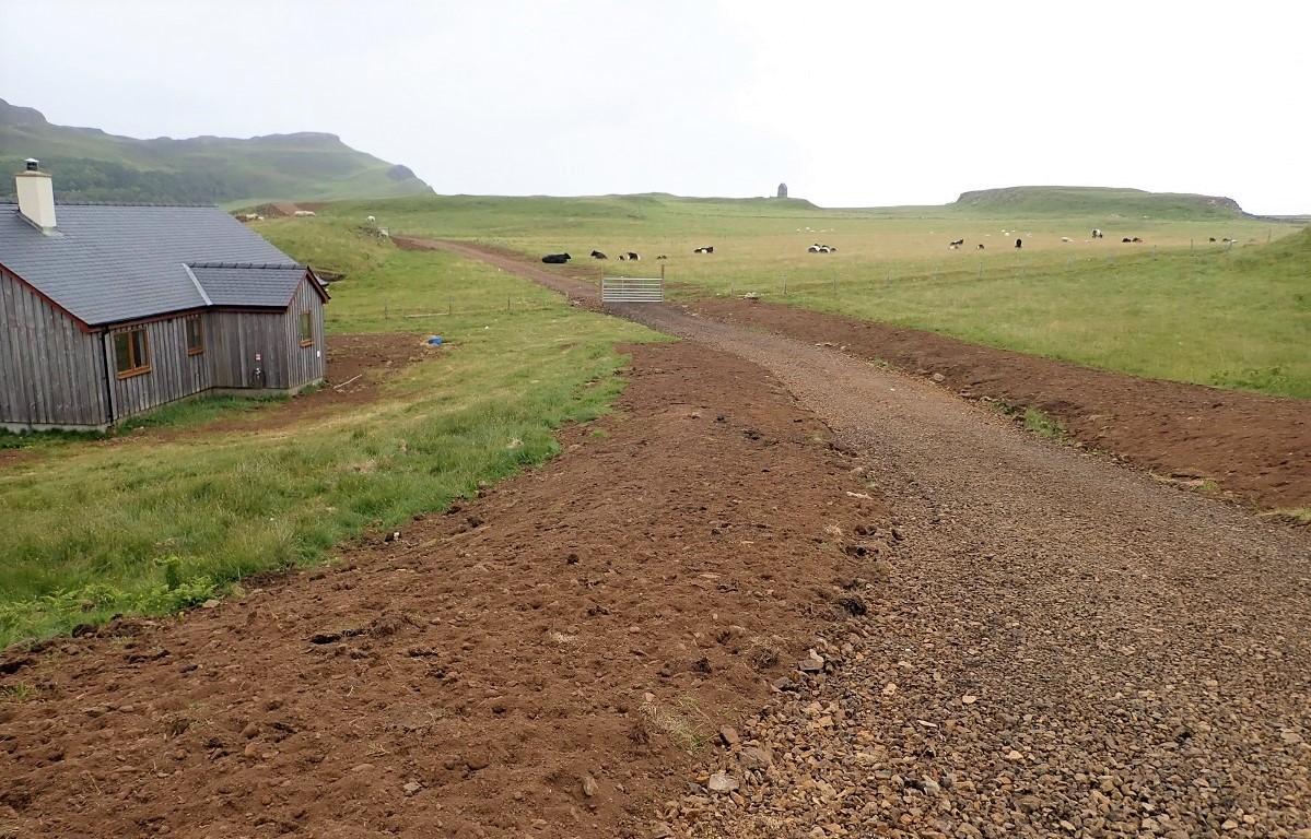New road crosses Sanday Small Isles