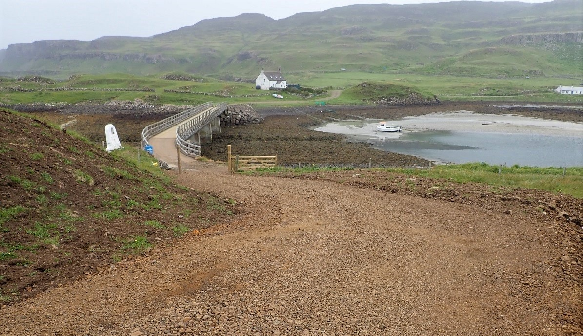 New road on Sanday Small isles