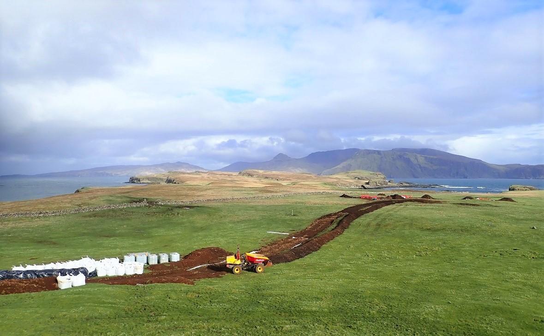 Road under construction for renewables Sanday