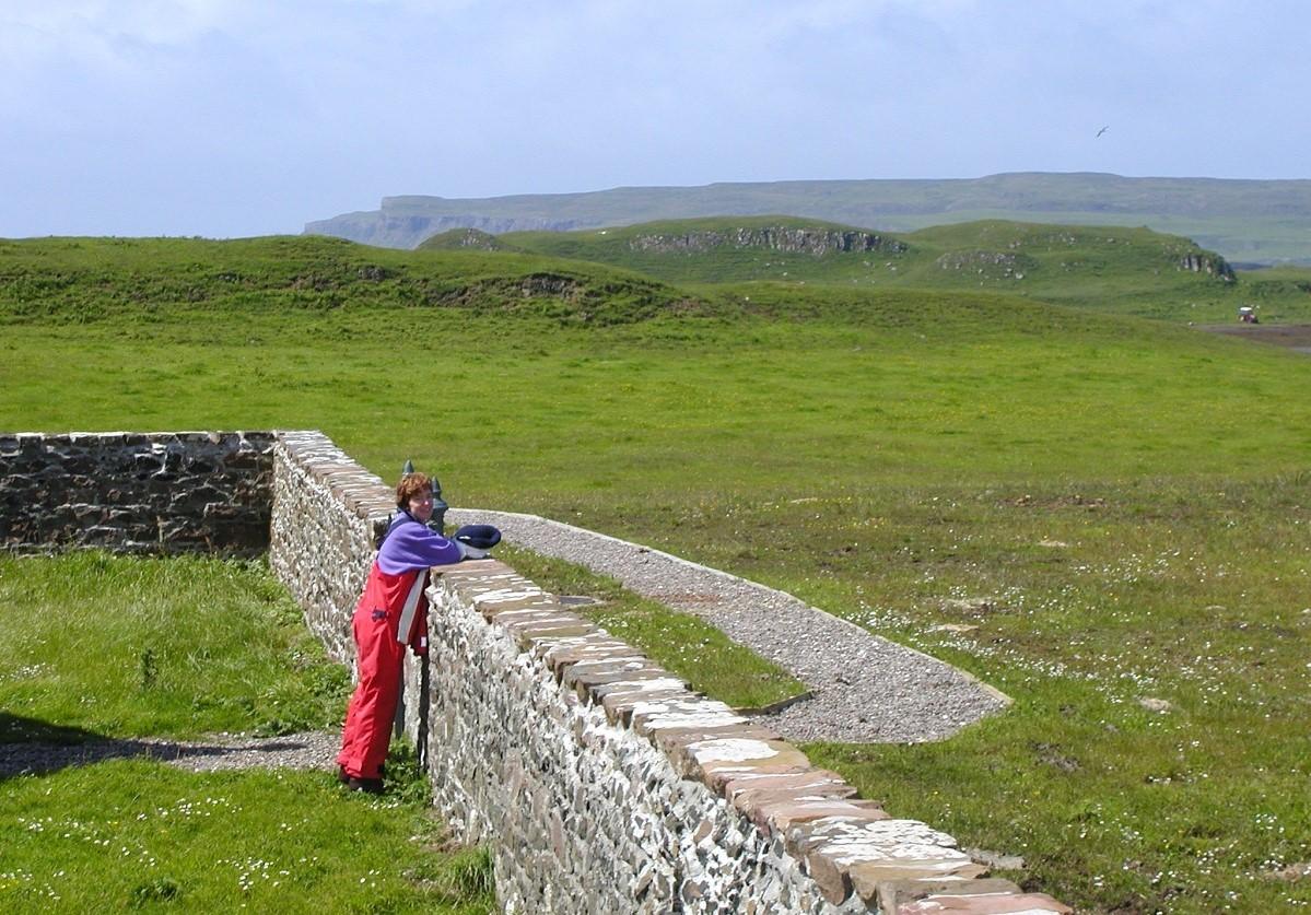 Shona Rankin on Sanday Small Isles