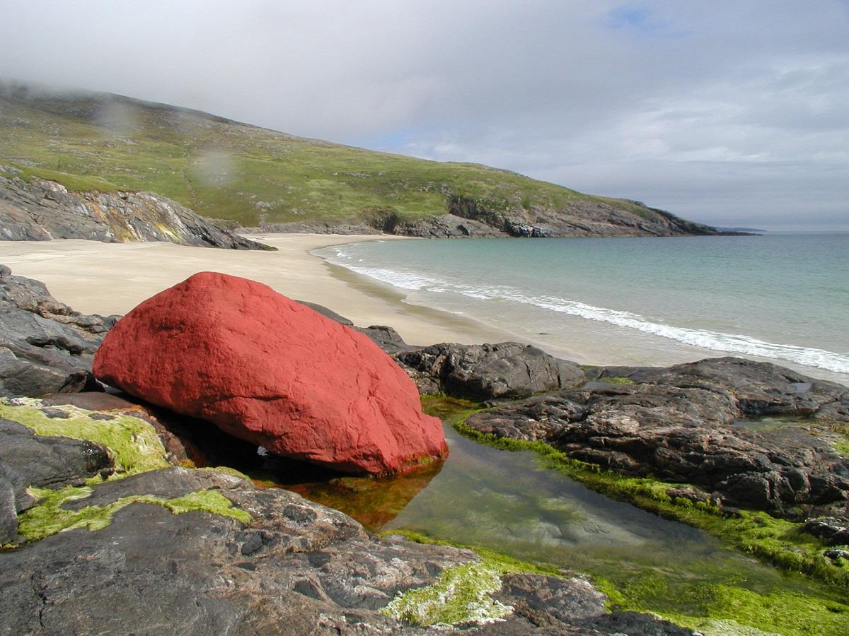 Mingulay beach scottish island