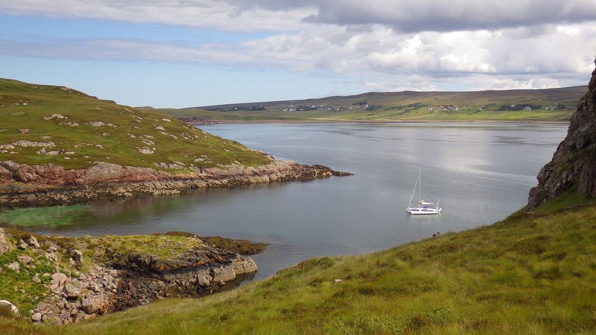 Scottish island anchorages Summer isles