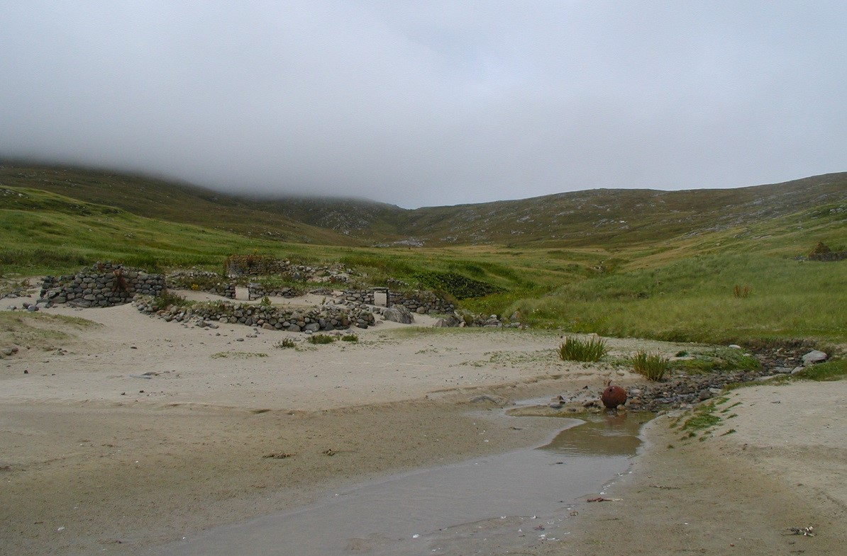 MIngulay ruins Scottish island