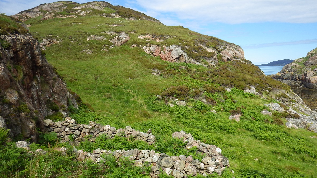 Scottish islands old sheep pen summer isles