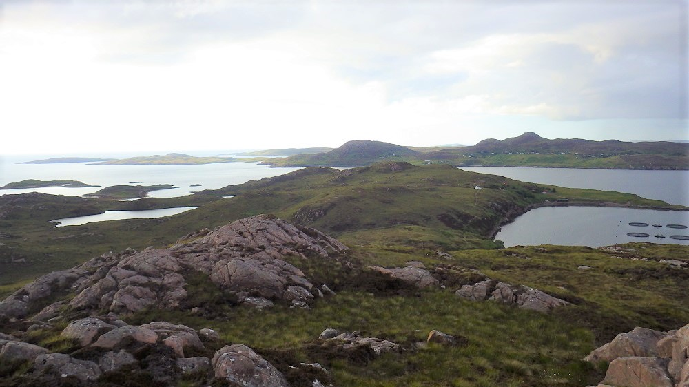 View from top of Tanera Mor Summer isles