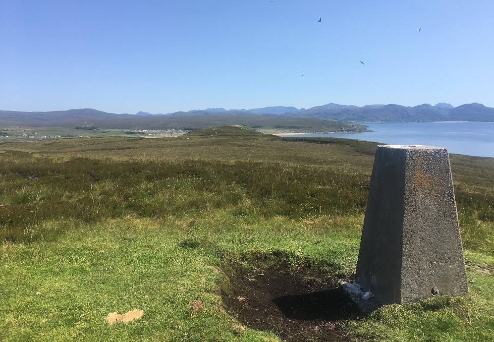 Trig point scottish island