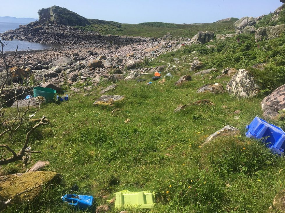 Fishing gear pollution beaches