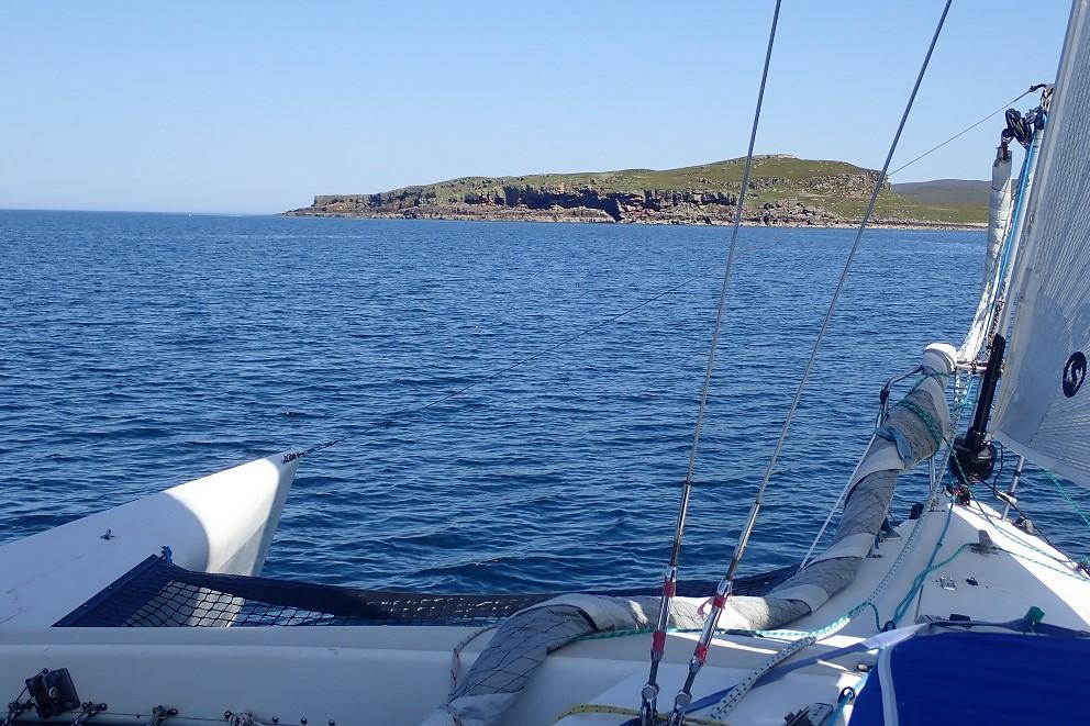 Approaching LOnga Ildand scottish islands