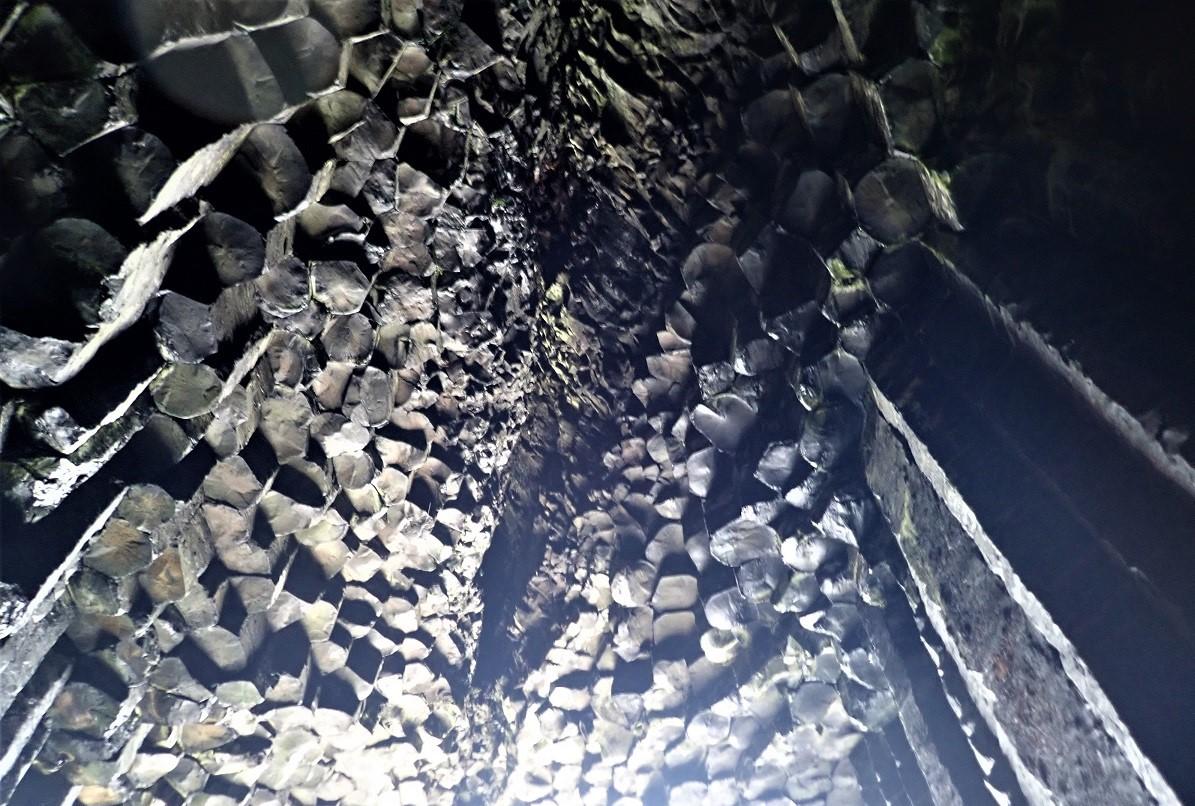 Roof of Fingals Cave Staffa scotland NTS