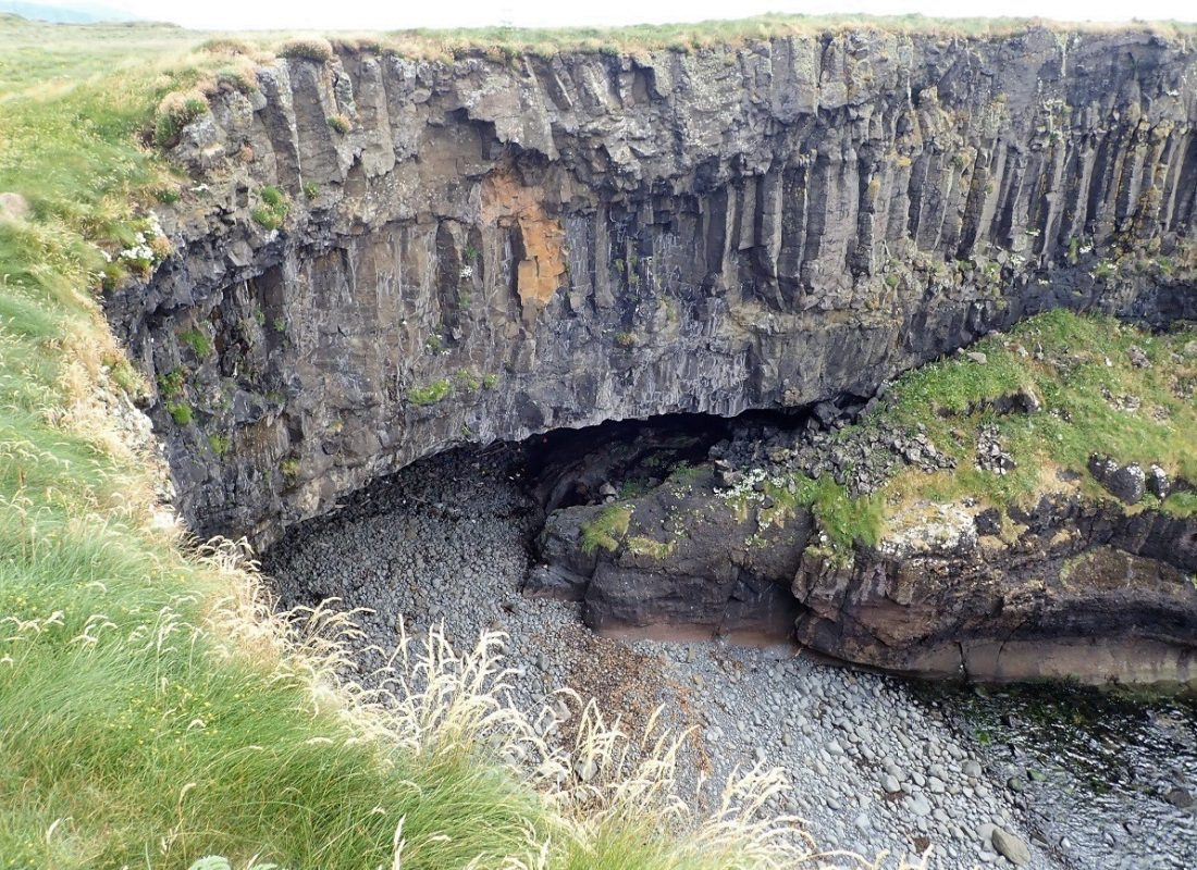 Cave on Staffa scottish island