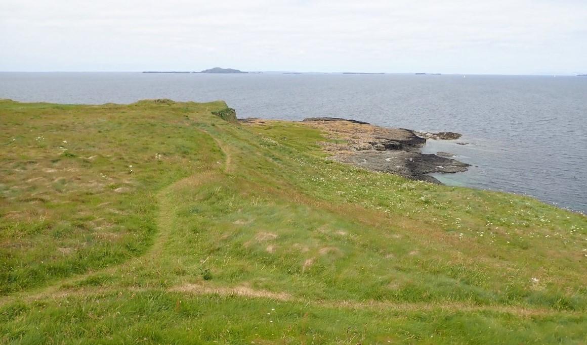 Staffa looking toward Treshnish Islands