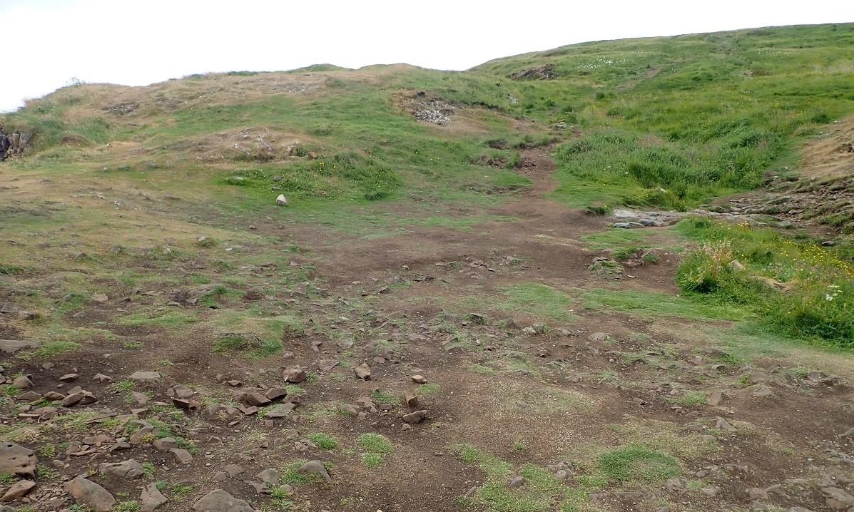 Staffa erosion to paths