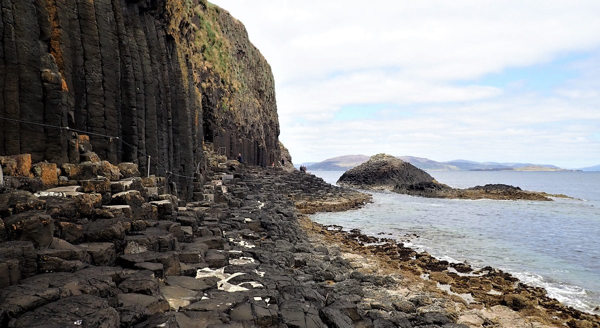 Visitor pathway to Fingals cave Staffa