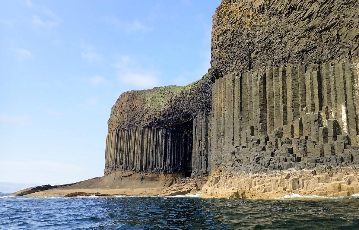 Staffa basalt columns island