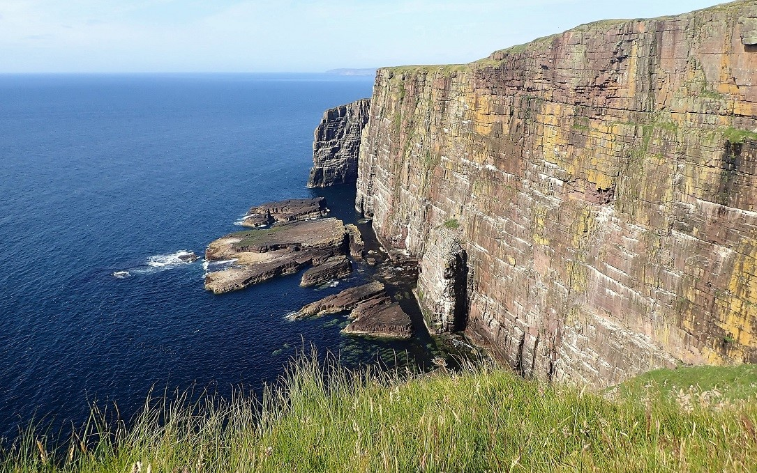Handa Island sea cliffs