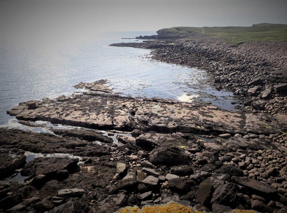 Handa island rocky shore
