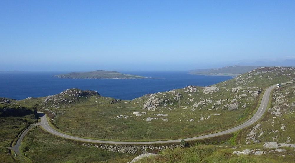 Gruinard island from roadside