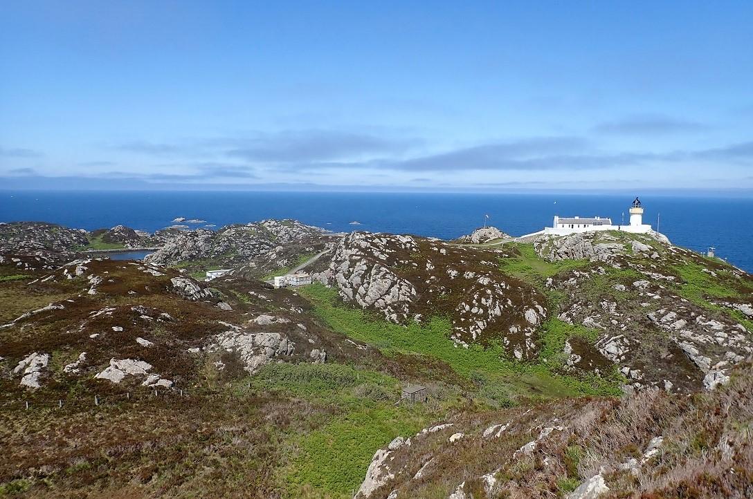 Lighthouse isle of Rona Scotland