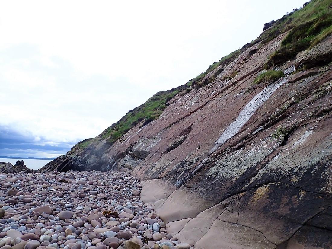Sanstone rock Scottish island