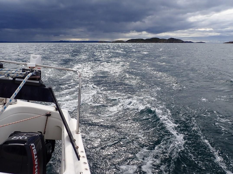 Carn Iar Scottish Island on horizon