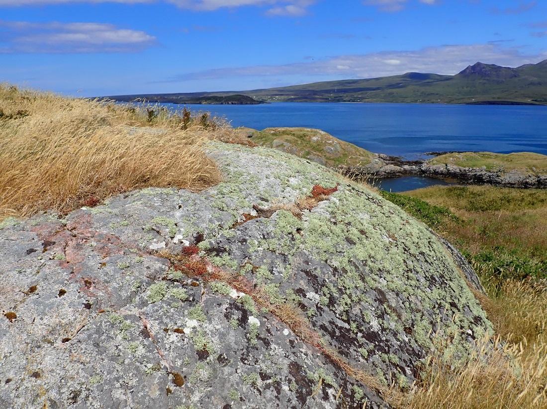 Carn Skerries Scottish island summer isles red sandstone