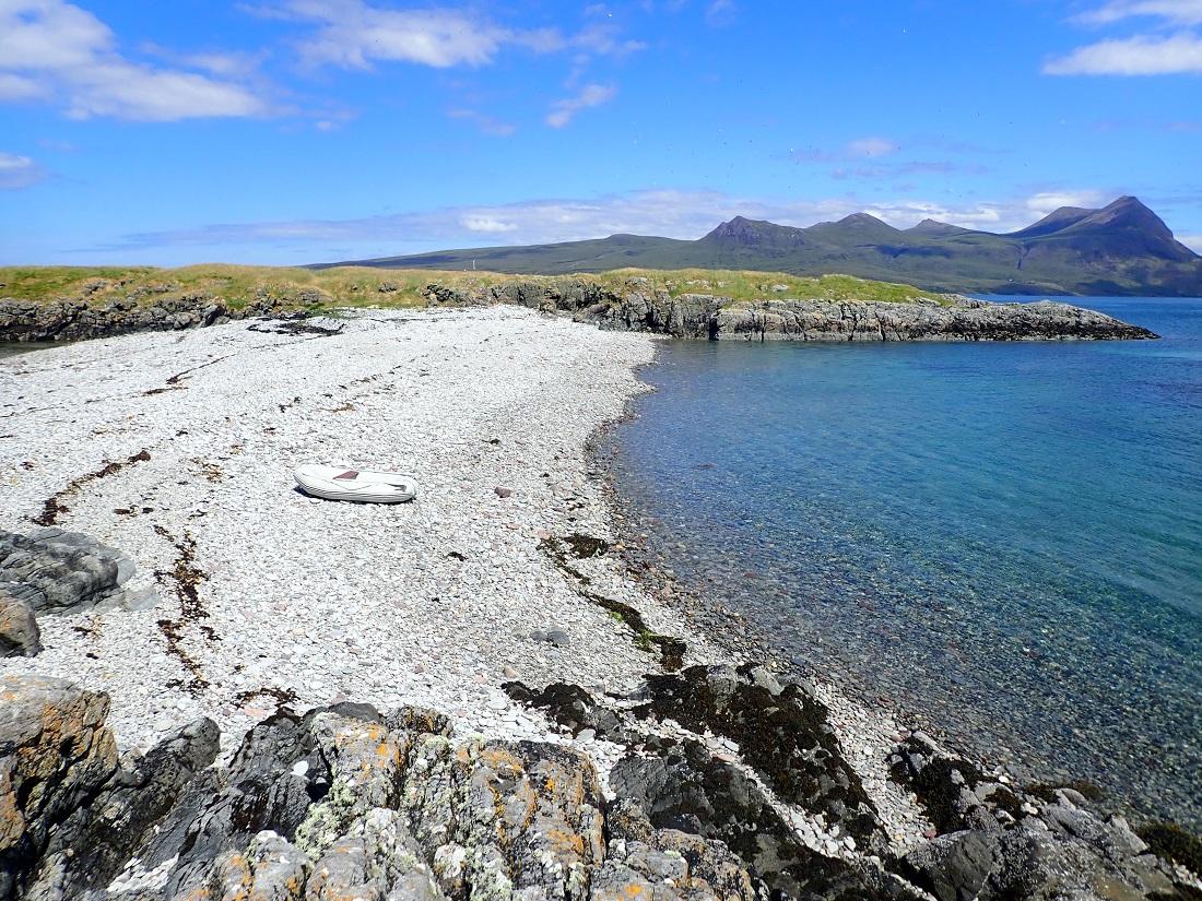Carn Skerries Scottish island summer isles beach