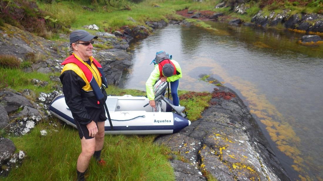 Scotislands Eilean Nan Eildean Sunart landing party