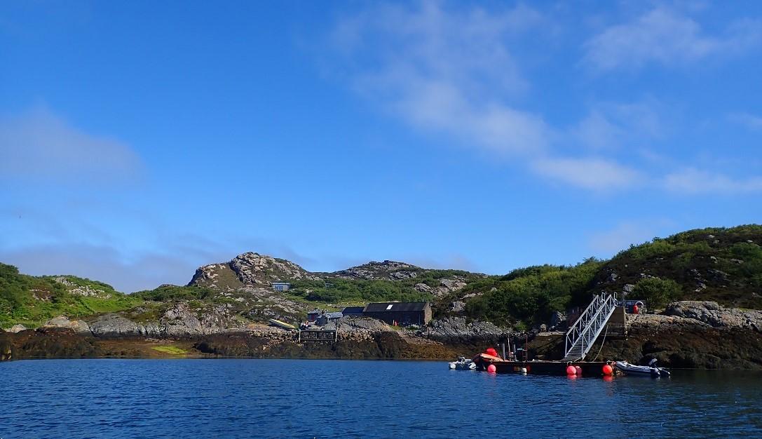 Landing jetty on island of Rona