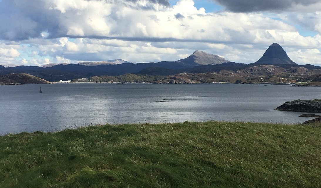 Wester Ross from tjhe sea Lochinver